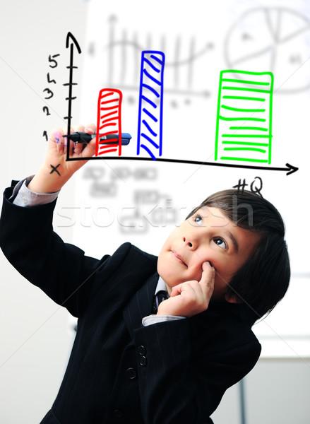 ребенка рисунок диаграмма цифровой экране лице Сток-фото © zurijeta