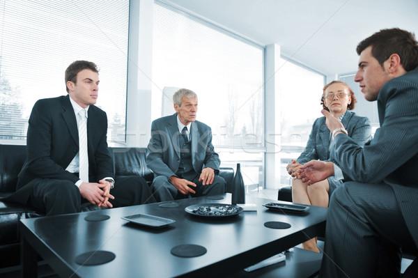 ストックフォト: 人 · ブレーク · オフィス · 会議 · ビジネス · 幸せ