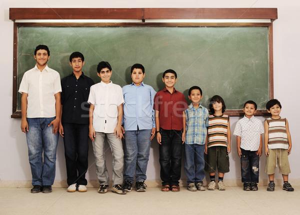 College jongens glimlach school kind Stockfoto © zurijeta