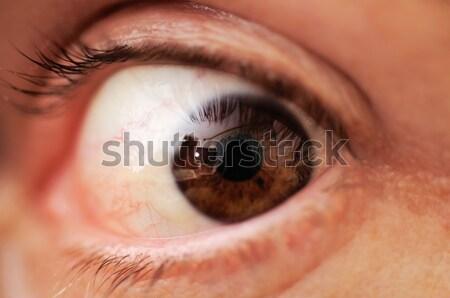 Chłopców oka twarz streszczenie niebieski Zdjęcia stock © zurijeta