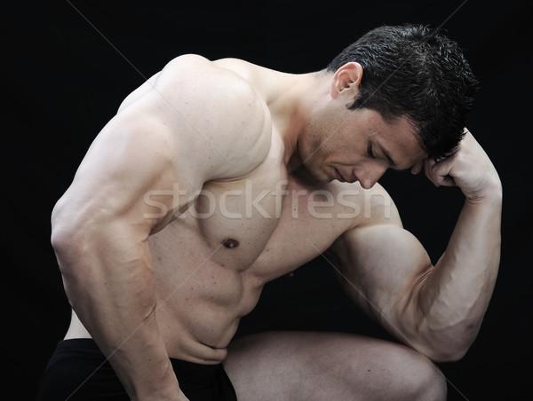 идеальный мужчины тело устрашающий Культурист позируют Сток-фото © zurijeta