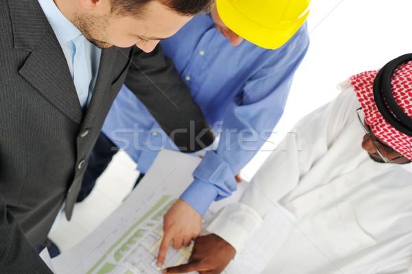 Közel-Kelet megbeszél mérnöki terv projekt üzlet Stock fotó © zurijeta