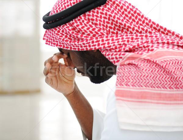 Arabisch Geschäftsmann Krise Business Arbeit Stock foto © zurijeta