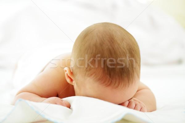 愛らしい 赤ちゃん 少年 クローズアップ 肖像 白 ストックフォト © zurijeta