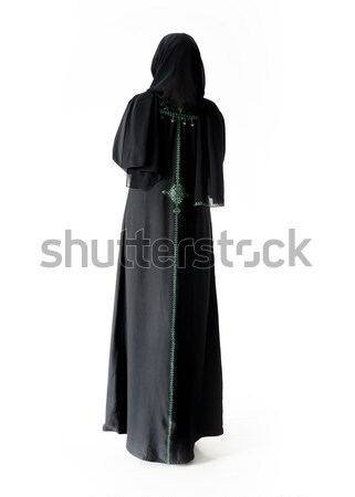 Muslim traditional woman, clothes from back, isolated Stock photo © zurijeta