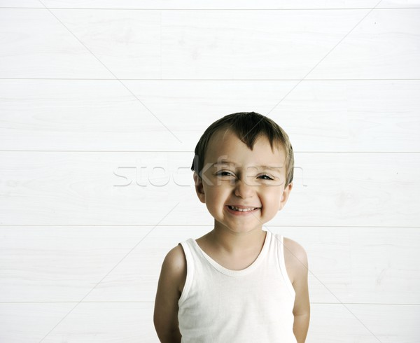 Portrait innocent Kid cute sourire Photo stock © zurijeta