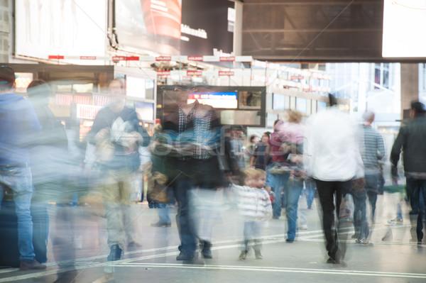 People walking on street and subway Stock photo © zurijeta