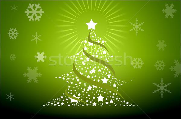 Рождества праздник детали иллюстрированный цветами Сток-фото © zurijeta