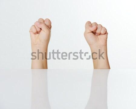 Kid fingers isolated Stock photo © zurijeta