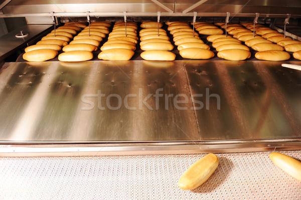 In bread bakery food factory Stock photo © zurijeta