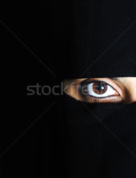 Sensueel Oost asian arabisch vrouw sjaal Stockfoto © zurijeta