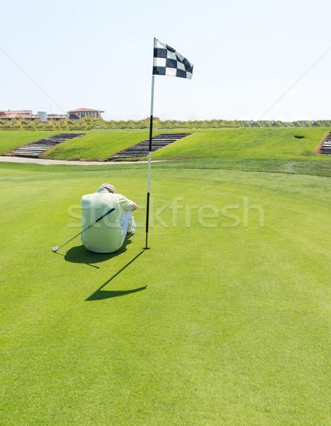 Stockfoto: Man · spelen · golf · club · business · natuur