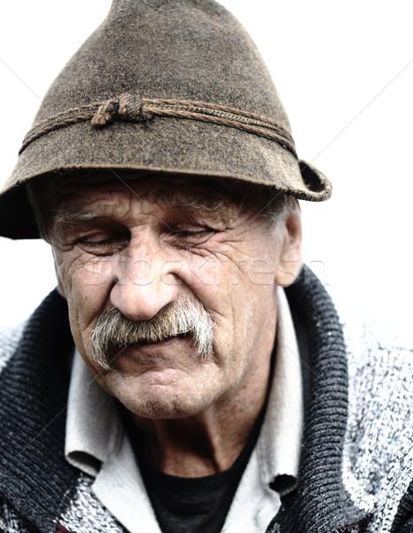 старик Hat природы портрет пожилого человек Сток-фото © zurijeta