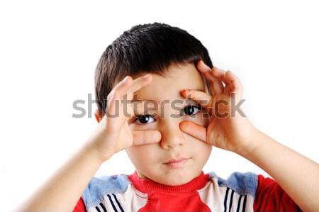 прелестный желательный ребенка лице портрет Сток-фото © zurijeta