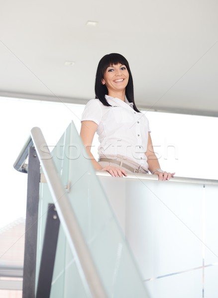 Businesswoman on work place Stock photo © zurijeta