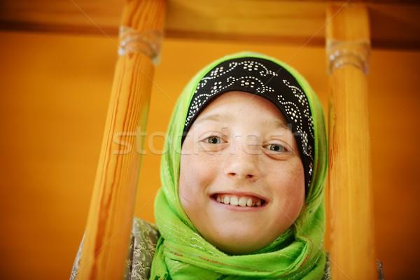 肖像 ムスリム 少女 女の子 かわいい そばかす ストックフォト © zurijeta