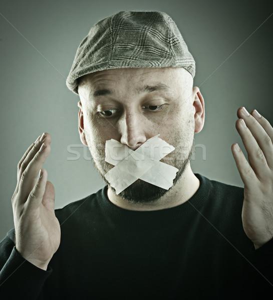 Man forbidden talking concept Stock photo © zurijeta