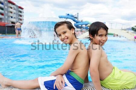 幸せ 子供 夏 スイミングプール ストックフォト © zurijeta