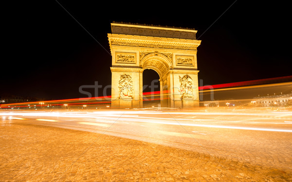 Night shot of Arc de Triumph Stock photo © zurijeta