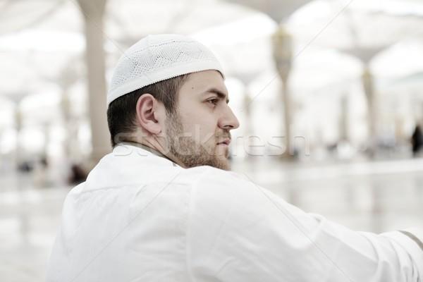 Moslim bidden moskee heilig plaats Stockfoto © zurijeta
