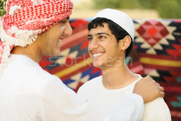 Réel authentique arabe personnes sourire Photo stock © zurijeta