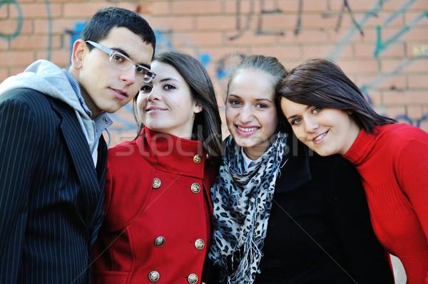 Ragazzi adolescenti ragazze ritratto esterna ragazza studente Foto d'archivio © zurijeta