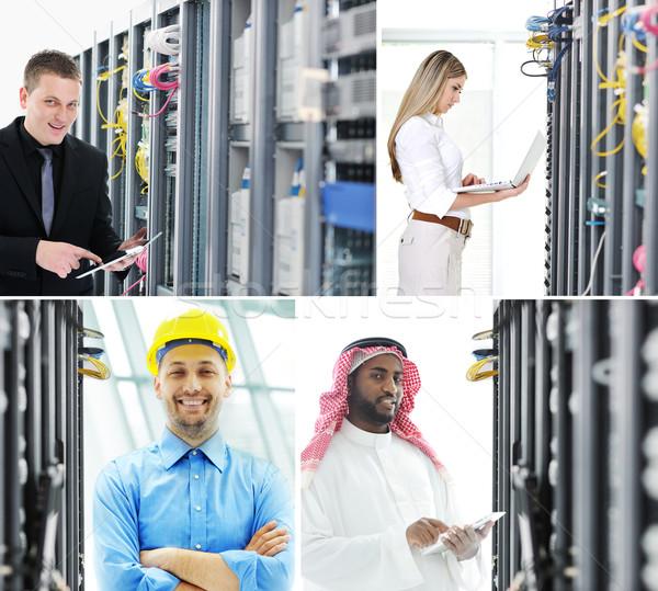 çalışma Sunucu oda veri merkezi mühendisler Stok fotoğraf © zurijeta