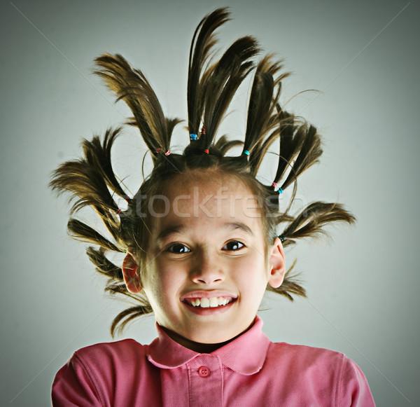 Engraçado retrato criança sorrir cara Foto stock © zurijeta