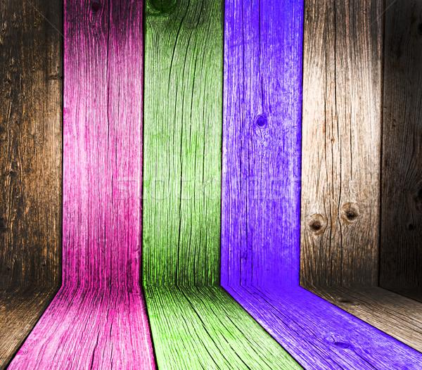 Creatieve houten kamer welkom meer soortgelijk Stockfoto © zurijeta