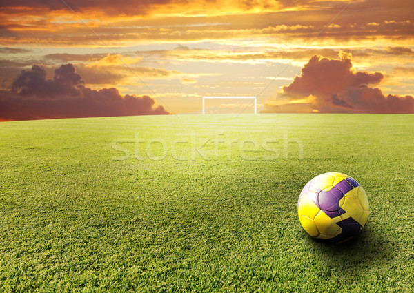 Footbal scene Stock photo © zurijeta