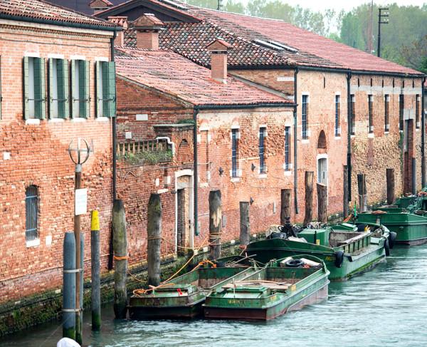 łodzi kanał wody Wenecja miasta budynków Zdjęcia stock © zurijeta