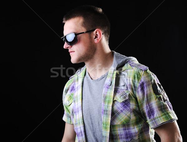 Jóvenes macho hombre diferente fotos luz Foto stock © zurijeta