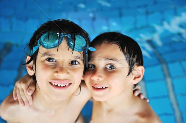 été natation activités heureux enfants piscine Photo stock © zurijeta