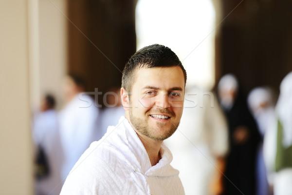 Muçulmano roupa pronto adorar Foto stock © zurijeta