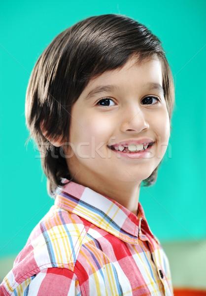 Portrait réel enfant Kid cheveux Photo stock © zurijeta
