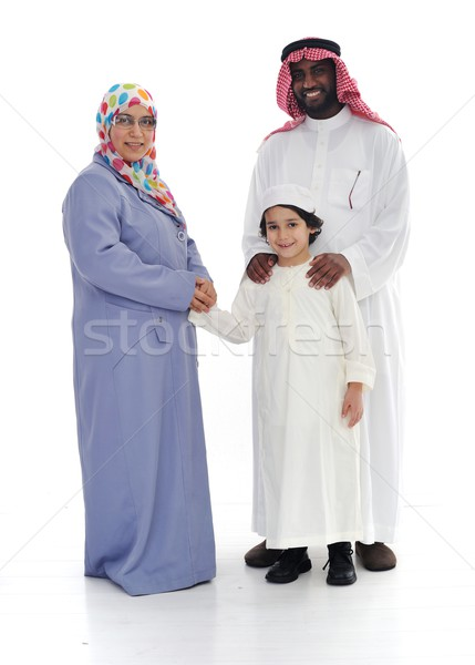 Muslim family, two races together Stock photo © zurijeta