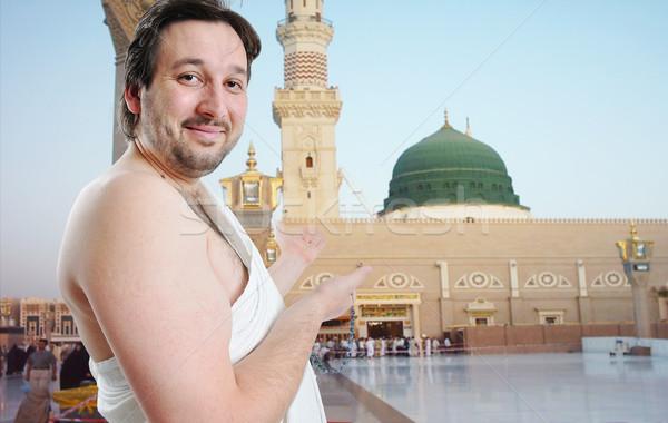 Emberek szent iszlám kötelesség Szaúd-Arábia kezek Stock fotó © zurijeta