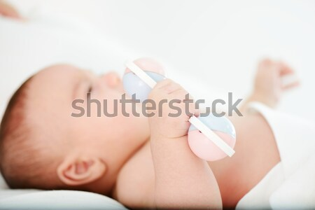 Adorable baby boy drinking breast milk Stock photo © zurijeta