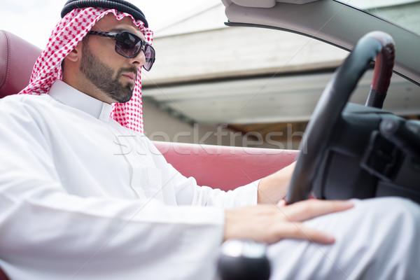 Atraente Árabe homem carro rua árabe Foto stock © zurijeta