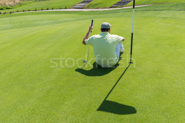 Stockfoto: Man · spelen · golf · club · business · sport