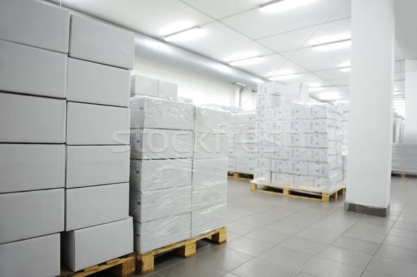 Сток-фото: многие · коробки · интерьер · современных · склад · бизнеса