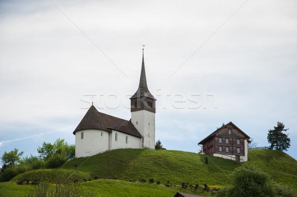 Svizzera castello casa costruzione frutta montagna Foto d'archivio © zurijeta