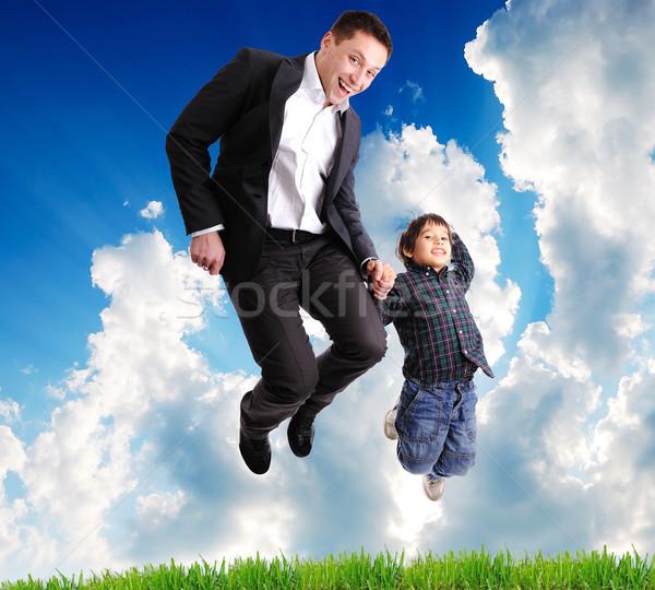 Father and son Stock photo © zurijeta