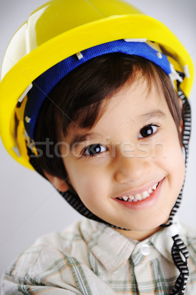 Little cute positive builder Stock photo © zurijeta