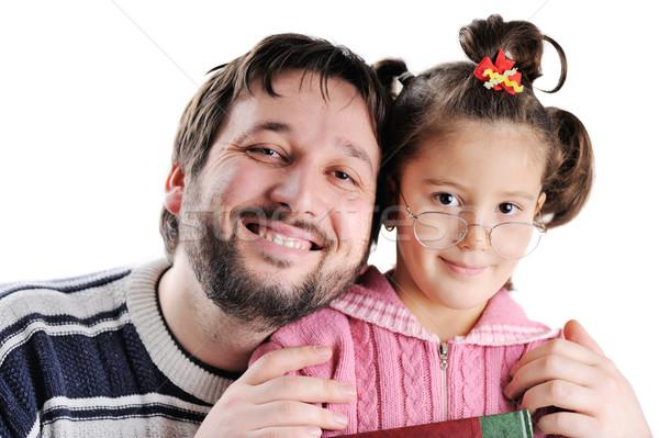 Closeup image of father and daughter Stock photo © zurijeta