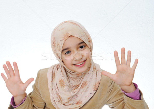 kid muslim Stock photo © zurijeta