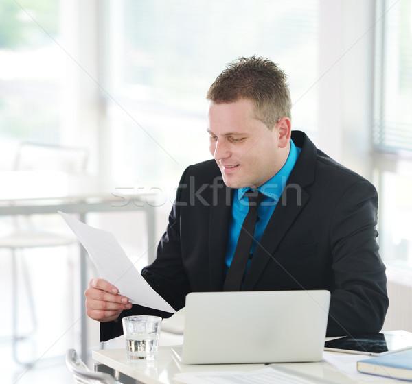 Stockfoto: Uitvoerende · vergadering · bureau · kantoor · gelukkig