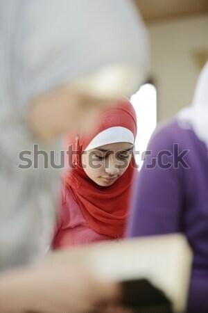 Stock fotó: Muszlim · arab · lányok · tanul · együtt · csoport