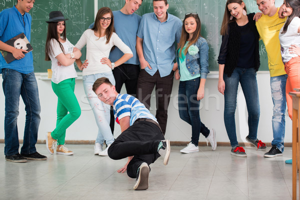 Student performing a breakdance Stock photo © zurijeta