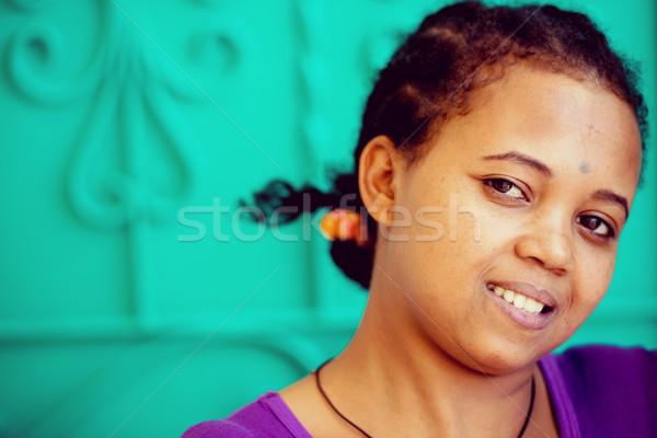 アフリカ 少女 女性 幸せ ファッション 髪 ストックフォト © zurijeta
